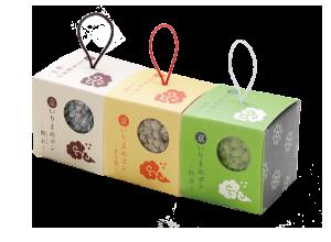 京いりまめポン(糖衣・きなこ・抹茶)